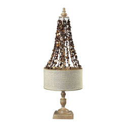 Dimond Lighting - Dimond Lighting 93-9251 Rockyford Bleached Wood Table Lamp - Dimond Lighting 93-9251 Rockyford Bleached Wood Table Lamp