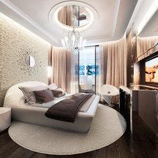 Eclectic Bedroom by Design Studio Y&S architecture-interior design