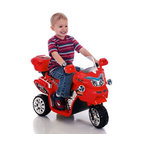 Lil Rider - Lil Rider FX 3 Wheel Motorcycle Bike Battery Powered Riding Toy - Red Multicolor - Shop for Tricycles and Riding Toys from Hayneedle.com! It's rough. It's rowdy. It's red! The Lil Rider FX 3 Wheel Battery Powered Bike - Red will inspire hours of fun cruising the backyard or the neighborhood's sidewalks. Its headlights turn on and off. With 2 gears forward and reverse your little one can maneuver into tight parking spots and do tricks while pressing buttons for rousing sound effects. The included 6V battery is rechargeable by plugging in to a standard AC110V wall socket. Requires adult supervision. Keep children away from roads and moving vehicles.