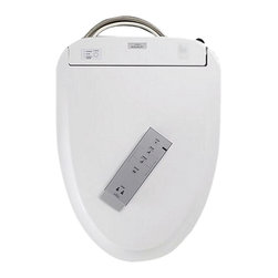 Toto - Toto SW574#01 Elongated Washlet - Toto SW574#01 Washlet, Elongated Toilet Seat - Cotton. The SW574#01 is a genuine product manufactured by Toto. This particular product is an Elongated Toilet Washlet in a Cotton finish. The Washlet features an automatic air deodorizer, ewater+ on both the wand and the bowl, a night light, warm air dryer and a Pre-mist option before each use. It utilizes a remote control operation and has two user memories. Washlet has an elongated seat design with cover.