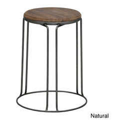 Kosas Collections - Kinsley Stools (Set of 2) - I love that these stools have that touch of wood on top — it keeps them from looking too cold.