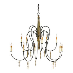 Kathy Kuo Home - Rouleau Grand Gustavian French Country 10 Light Chandelier - How Swede it is…  When it comes to effortless elegance it doesn't get much better than a Swedish Gustavian light fixture like Rouleau.  Elongated arms hold ten lights, while slender wooden drops add to the slim, elegant appearance.  Here's yet another tall, slim and impossibly elegant Scandinavian!
