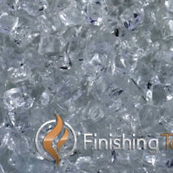 "Finishing Touch Products - 8 Pound Container 1/4"" Crystal Ice Glass Pebbles - Color: Crystal Ice"