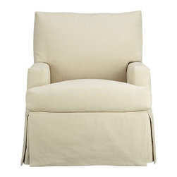 Hathaway Swivel Glider - This is a contender for our next nursery. I love the shape and the fact that it has a slipcover.