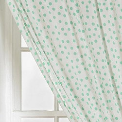 Plum & Bow Polka Dot Curtain, Turquoise - I like that Urban Outfitters has curtains in several patterns and at good prices. This turquoise dot is a favorite.
