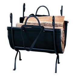 "Blue Rhino - Iron Log Holder - Uniflame W-1866 18"" High Deluxe Wrought Iron Log Holder . No hearth is complete without a log rack to keep firewood close at hand. If you have a hearth with a traditional feel, this is the perfect choice for a sturdy, long-lasting hearth accessory. 18"" x 23"""