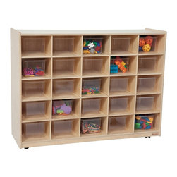 Wood Designs - Wood Designs Natural 25 Tray Storage with Trays - WD16001 - Shop for Childrens Toy Boxes and Storage from Hayneedle.com! About WDM Inc.For 30 years Wood Designs has put passion for the enrichment and safety of children into quality wooden early learning furniture. Dennis and Debbie Gosney the couple behind this labor of love have taken their 50 years combined experience in child development furniture manufacturing and built a company at the forefront of innovation and safety. Intuitive design coupled with novel safety features like Pinch-me-not hinges and Tip resistant furniture set Wood Designs apart from the typical early learning furniture manufacturers.