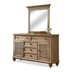 Riverside Furniture - Coventry Dresser with Mirror - Includes bolts and two upright support rails.