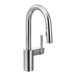 Moen - Moen Align High Arc Pulldown Bar Faucet, Chrome (5965) - Moen 5965 Align High Arc Pulldown Bar Faucet, Chrome