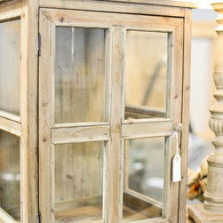 Simply Unique Finds Showroom - A beautiful farmhouse curio to hold just about anything.
