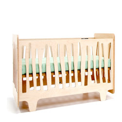 NUMI NUMI Design LLC - Funky Forest Crib - This innovative crib captures the funky nature of the forest in all its asymmetry and irregularity, creating a mini-ecosystem in your nursery. It is made of highly durable NAUF (no added urea formaldehyde) multi-ply birch wood. The finishes are non-toxic, water-based wood stain.
