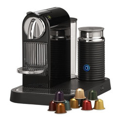 Nespresso Citiz Black Espresso Machine with Aeroccino Frother