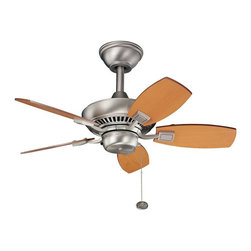"""BUILDER FANS - BUILDER FANS 300103NI Canfield 30""""  Outdoor / Indoor Transitional Ceiling Fan - Nothing says """"come sit a spell"""" better than the cool breeze of a Kichler ceiling fan. Outside or in, these moisture-resistant fans are designed to create an oasis of space on a covered porch, patio, pool-side area - anywhere you want to enjoy the weather in cool comfort. Engineered to withstand temperatureextremes and run flawlessly."""