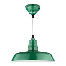 "Cocoweb - 14"" Oldage Ceiling Barn Light, Vintage Green, 14 - BODY SHAPE"