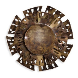 Interlude - Interlude Brackley Sconce - Industrial-chic wall art serves an innovative purpose in the form of the Brackley Sconce.
