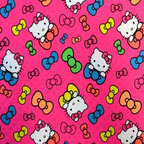 "SheetWorld - SheetWorld Fitted Oval Crib Sheet (Stokke Sleepi) - Hello Kitty Bows - This 100% cotton ""woven"" oval crib (stokke sleepi) sheet features the one and only Hello Kitty! Our sheets are made of the highest quality fabric that's measured at a 280 tc. That means these sheets are soft and durable. Sheets are made with deep pockets and are elasticized around the entire edge which prevents it from slipping off the mattress, thereby keeping your baby safe. These sheets are so durable that they will last all through your baby's growing years. We're called sheetworld because we produce the highest grade sheets on the market. Size: 26 x 47."