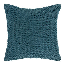 "Surya - Surya 22 x 22 Decorative Pillow, Teal Green (P0275-2222P) - Surya P0275-2222P 22"" x 22"" Decorative Pillow, Teal Green"