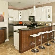 Contemporary Kitchen by Zelmar Kitchen Designs & More, LLC