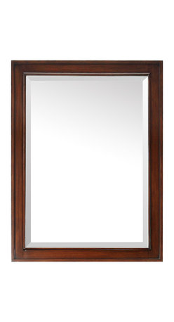 Avanity - Brentwood 24 in. Mirror - Knock on wood – solid wood that is. This framed mirror is a reflection of your personal style. It coordinates beautifully with a variety of bathroom vanities and can be hung horizontally or vertically.