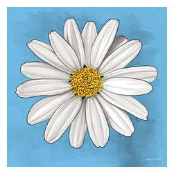 """Maxwell Dickson - Maxwell Dickson """"White Daisy"""" Wall Art Canvas Print Abstract Pop Art Modern - We use museum grade archival canvas and ink that is resistant to fading and scratches. All artwork is designed and manufactured at our studio in Downtown, Los Angeles and comes stretched on 1.5 inch stretcher bars. Archival quality canvas print will last over 150 years without fading. Canvas reproduction comes in different sizes. Gallery-wrapped style: the entire print is wrapped around 1.5 inch thick wooden frame. We use the highest quality pine wood available."""