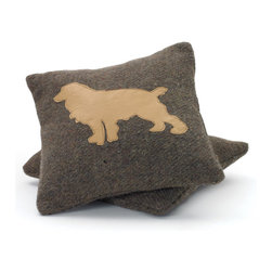 Go Home - Wool Puppy Square Pillow- Set Of 2 - Wool Puppy Pillow is perfect complement to your couch, sofa or any space.Nicely crafted with wool.