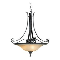 Cervantes Collection 3, Light Uplight Chandelier - Item Weight: 13.4