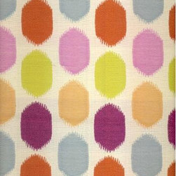 Maye Multi-Woven Fabric - Cheerful and whimsical, this pretty pattern airs a bit of sophistication as well. I envision pillows on a teenage girl's bed or dining room chairs upholstered in this fabric. Small doses of this pattern could have a powerful effect.