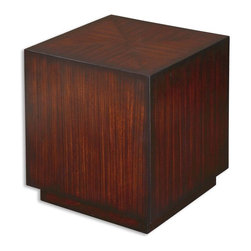 """24121 Kendrick, Cube Table by Uttermost - Get 10% discount on your first order. Coupon code: """"houzz"""". Order today."""