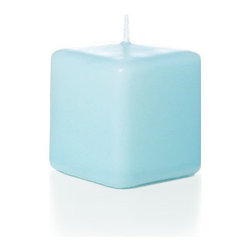"Neo-Image Candlelight Ltd - Set of 12 - Yummi 2.25"" x 2"" Robin Egg Blue Square Pillar Candles - Our unscented 2.25""x2"" Square Pillar Candles are ideal when creating a beautiful candlelight arrangement for the home or wedding decor.  Available in 44 trendy candle colors hand over dipped with white core to match and compliment your home decor or wedding centerpiece decoration."