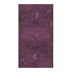 """Safavieh - Hayden Rug, Black / Purple 2' X 3'6"""" - Construction Method: Power Loomed. Country of Origin: Turkey. Care Instructions: Vacuum Regularly To Prevent Dust And Crumbs From Settling Into The Roots Of The Fibers. Avoid Direct And Continuous Exposure To Sunlight. Use Rug Protectors Under The Legs Of Heavy Furniture To Avoid Flattening Piles. Do Not Pull Loose Ends; Clip Them With Scissors To Remove. Turn Carpet Occasionally To Equalize Wear. Remove Spills Immediately. Elegant Old World velvet motifs make a fashion statement for the floor in PALAZZO. A rich vintage look is achieved with a combination of lustrous and matte yarns in polypropylene and natural jute, and textural chenille for velvety pattern dimension."""