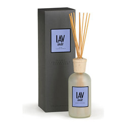 Lavender A.B. Home Room Diffuser - 16 oz. - Lavender is an age old remedy for many afflictions all across the world since the beginning of time. Used in aromatherapy, to soothe insect burns, headache, sleep deprivation, tension and upset stomach, its medicinal and wellness properties are seemingly endless. Bring the fresh, rich scent of lavender indoors with the Lavender A.B Home Diffuser and feel the healing properties of lavender oil envelope you and relax your mind.
