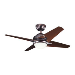 "Kichler - Kichler 300147OBB Rivetta 42"" Indoor Ceiling Fan 4 Blades - Remote, Light - Kichler 300147OBB Rivetta II Ceiling Fan"