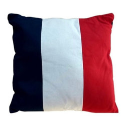 """Handcrafted Model Ships - Nautical Flag Letter T Pillow 15"""" - Beach Decoration - This Letter T Nautical Alphabet Pillow 15"""" combines comfort and the highly popular nautical letter design on our decorative pillow. Ideal for those looking to accent their home with a decorative nautical theme, place this pillow in your home to show guests your affinity for the nautical lifestyle."""