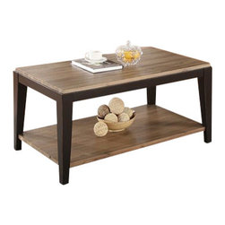 Riverside Furniture - Riverside Furniture Canal Street Rectangular Cocktail Table in Smoky Driftwood/M - Riverside Furniture - Coffee Tables - 17602 - Riverside's products are designed and constructed for use in the home and are generally not intended for rental commercial institutional or other applications not considered to be household usage.