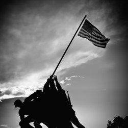 "Marine War Corps Memorial Print, Black & White, 12"" X 16"" - Marine War Corps Memorial, Washington DC"