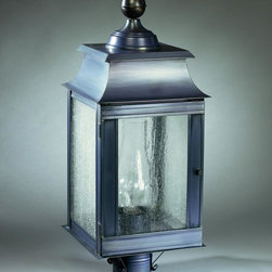Restoration Warehouse Concord Post Lantern #2 - Post lighting is an often-forgotten option for adding light to the night. This fixture can simply be mounted to a pole in the yard. I'd line up several along a front path to welcome guests to my home.