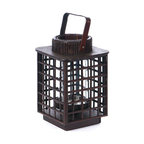 Square Bamboo Candle Lantern - **** FREE SHIPPING!!! ****