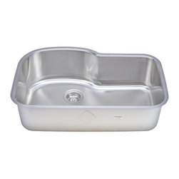 "Wells Sinkware - Wells Sinkware One Looks Two Sink Pack - 18 gauge undermount, Type 304 Premium stainless steel, One of the topmount/ undermount duo, Large single bowl with the look of D-shape double, Bold 3/8"" beveled rim mirror highlighted, Scratch resistant matte finish, Heavy duty sound absorbent coating & padding, Intelli-Pressed seamless one-piece construction, Drain openings: 3 1/2"", Drain placement: Offset towards back, Mounting hardware included, 3/8"" reveal cutout template, Limited lifetime warranty, Complies with ASMEA 112.19.3-2008/CSA B45.4-08, Package includes: (1) Sink bottom protection grid: GTW1617 (1) Sink bottom protection grid: GTW1315 (1) Basket strainer: S8000"