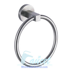 bathroom Towel Ring - Bath accessories add the finishing touch to your bathroom. This item's proximity to the sink and faucet makes it an important visual element in the bath. Not only does it keep hand towels handy and decorative towels displayed, it's the starting point for pulling the design motif from the lavatory across the rest of the room.