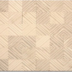 Engraved marble mosaic - Optical and great for focal point wall in your home or office. Available in 4 colors.