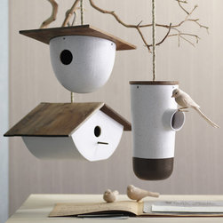Bodega Bird House - I have been looking for a birdhouse for the backyard, and this is one of my favorite designs. It's modern and fun, and I would love seeing birds fly in and out of it all day long.