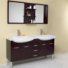 "Modern Vanities / 59"" Vetta Double Sink Vanity with Mirror. The vanity to fit al"
