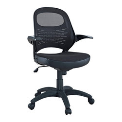 LexMod - Candid Sleek Office Mesh Chair with Flip Up Arms - Let fresh and innovative ideas pour forth. The Candid chair functions as a spontaneous and unrehearsed addition to your work environment. With a contoured padded mesh seat, ergonomic mesh back, and easy flip up arms, take flight to more natural and independent modes of creative speech.