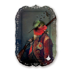 iBride - iBride Plucky Ambroise Tray/Wall Art - Ibride's Animosités collection includes this rectangular serving tray with portrait of Ambroise, the courtier.  This whimsical tray is great for general use or hang it on the wall for decoration.  Made of high pressure laminate, this tray is waterproof and heat resistant.  Wall hook included.   Manufactured by iBride.Designed in 2013.