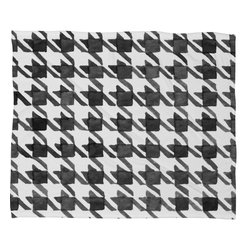DENY Designs - Social Proper Houndstooth Bw Fleece Throw Blanket - This DENY fleece throw blanket may be the softest blanket ever! And we're not being overly dramatic here. In addition to being incredibly snuggly with it's plush fleece material, it's maching washable with no image fading. Plus, it comes in three different sizes: 80x60 (big enough for two), 60x50 (the fan favorite) and the 40x30. With all of these great features, we've found the perfect fleece blanket and an original gift! Full color front with white back. Custom printed in the USA for every order.