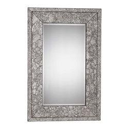 Triarch International - Triarch MR31730 XO Brushed Steel Mirror - Triarch MR31730 XO Brushed Steel Mirror