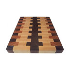 Armani Fine Woodworking - End Grain Walnut, Cherry & Rock Maple Butcher Block - This beautiful, handmade Walnut, Cherry, & Rock Maple Edge Grain Butcher Block Cutting Board will travel from my small shop directly to your kitchen...I'm confident that you'll love the impeccable quality and care that goes into every handmade piece.