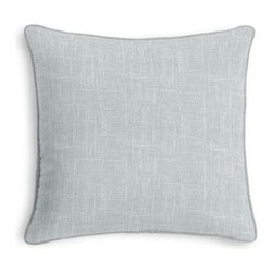 Pale Gray Lightweight Linen Custom Throw Pillow - Black and white photos, Louis XIV chairs, crown molding: classic is always classy. So it is with this long-time decorator's favorite: the Corded Throw Pillow. We love it in this luxurious lightweight linen blend with characteristic slubs in cool light gray.  Linen cotton blend will resist wrinkles.