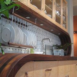 "EnGRAIN Wood Countertops - Wood Countertop - 2"" Walnut Edge Grain Countertop"