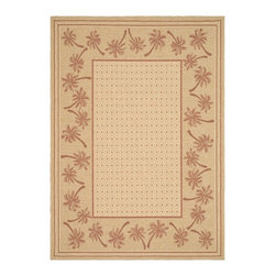 Safavieh - Safavieh Courtyard Cy5148J Ivory / Rust Area Rug - Traditional patterns and classic beauty are found in the area rugs of the Courtyard collection. Made in Belgium of enhanced polypropylene, these rugs are extremely durable and perfect for indoor or outdoor use. The area rugs of the Safavieh Courtyard collection offer highly detailed and sophisticated designs created through an unusual sisal weave. Select the colors, design, and style that will compliment any room in your home in round, rectangular or runner rugs.